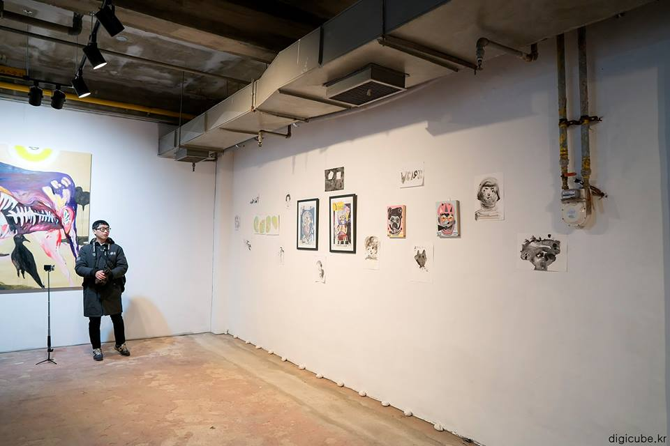 Jeong Ju Moon, Blues, Daily Meal, Beauty's Mask, Moon Origin, Meaning, Morality, Destiny installation, 2017   (Photo Credit: Seungwan Ryu)