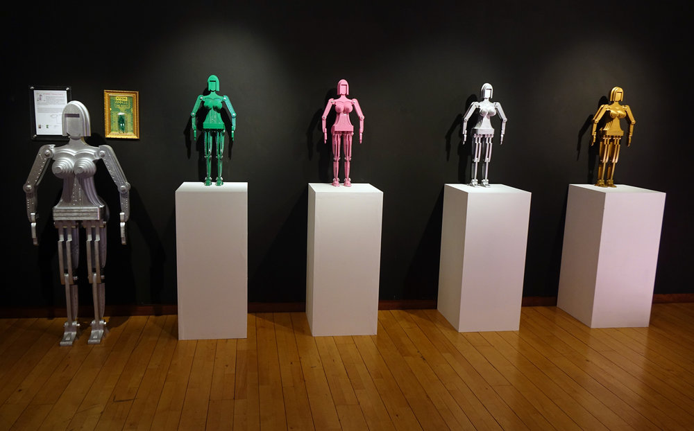 Hwang Taewon,Annie the Robotseries (2017), mixed media sculpture