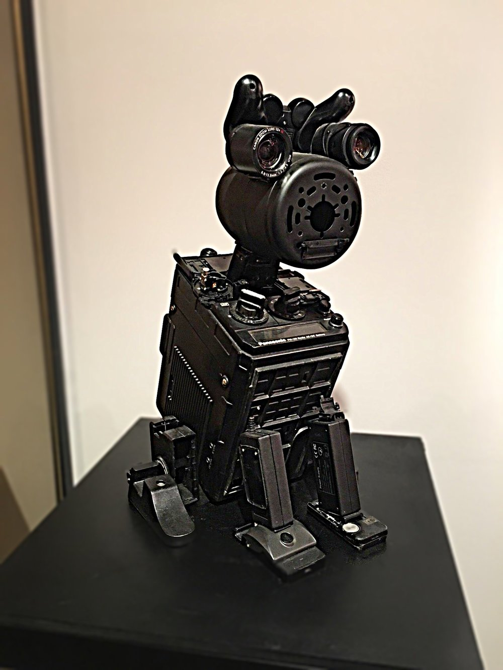 FORI,Black Dog, 2017. In his JUNK BIT series, FORI critiques society's excess consumption and wastefulness by repurposing discarded electronic waste and refastening them into robot creations.