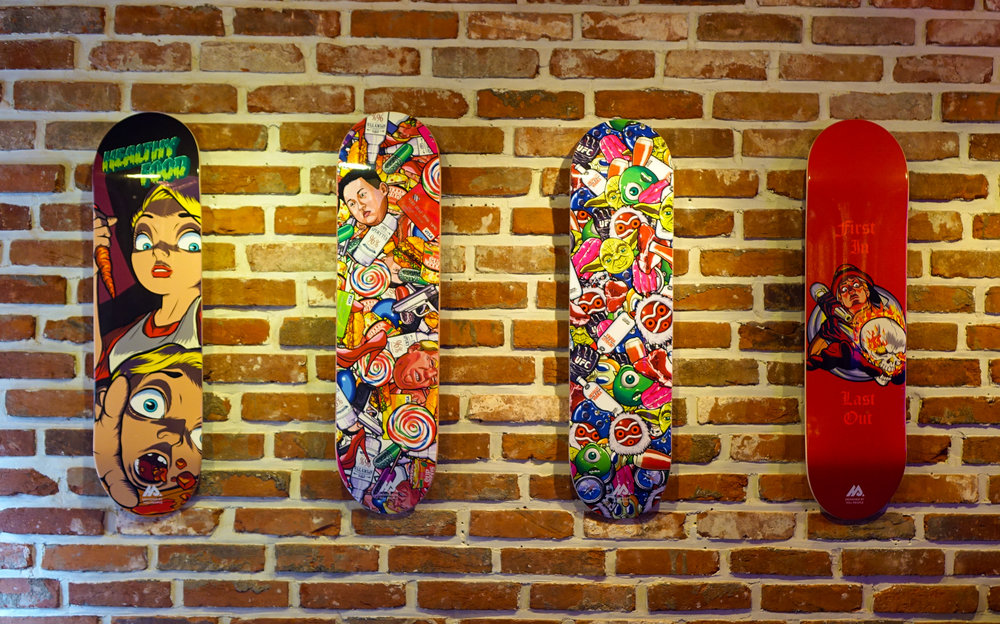 Lee Changho's graphic skateboards, 2016