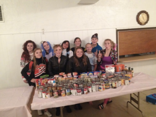Helping out with a food drive on a Sunday
