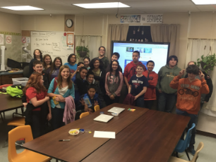 """Helping out at the after school STEAM Club """"Hour of Code"""""""