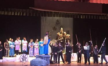 "Attending school play ""Mulan"" on a Monday night"