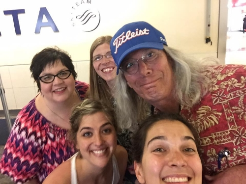 State Teachers of the Year (NJ, WV, MT, NV, and VA) meet-up in the Atlanta airport. Photo Credit: Natalie DiFusco-Funk, 2016 Virginia Teacher of the Year