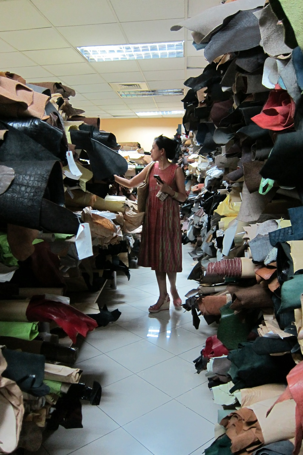Sourcing for leather in Marikina, Philippines.
