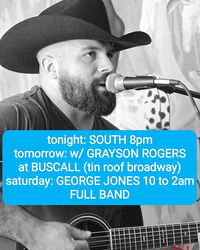 Weekend lineup!  Come see ya boy!