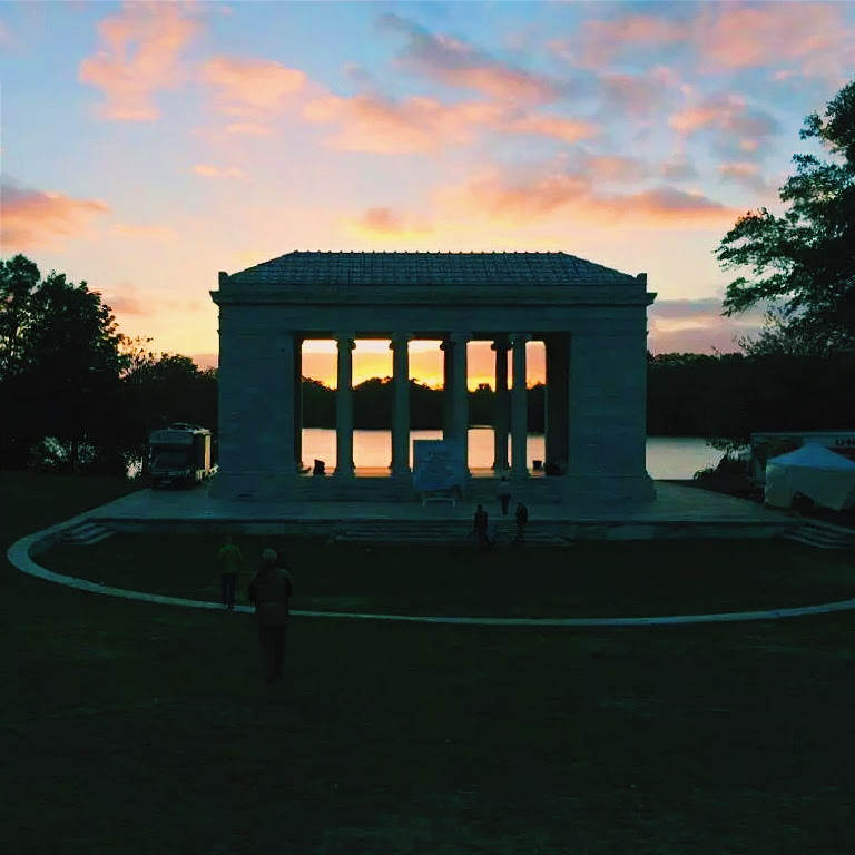 "The sun rose over Roger Williams Park on Sunday adding meaning to ""Divine Providence""  Photo By: @providencecross"