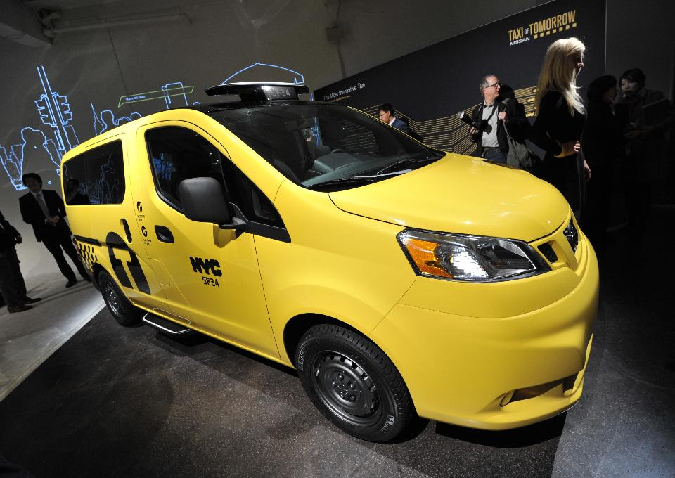 New York's state-of-the-art Taxi of Tomorrow is equipped with a loop system for passengers with hearing loss.  (STAN HONDA/AFP/Getty Images)