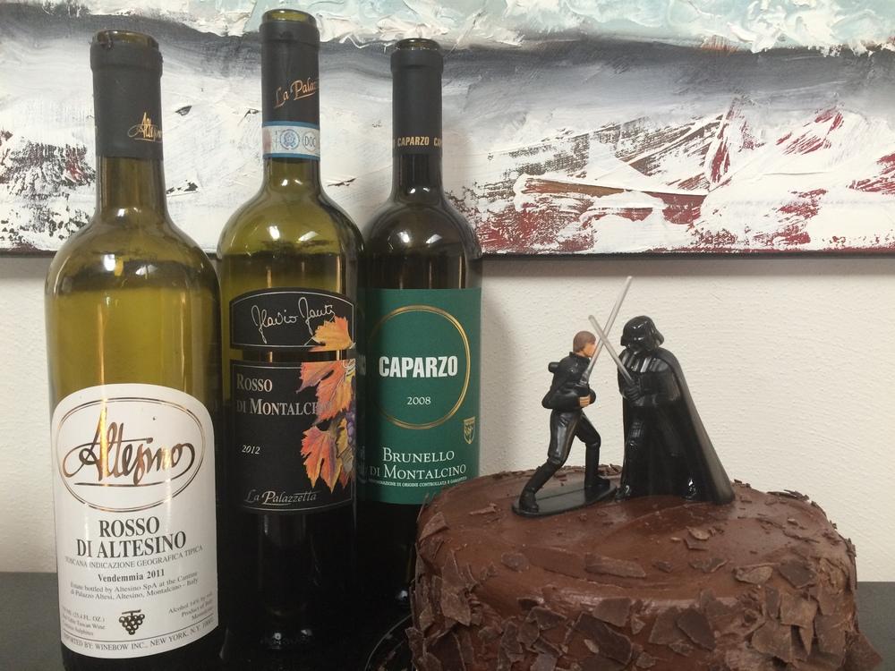 Montalcino wine and Birth Cake