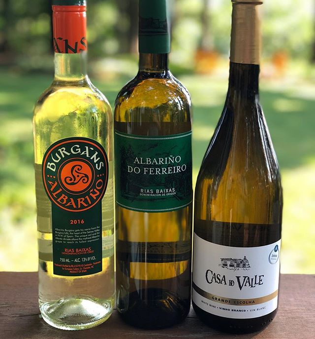 ‪Ep 84. #Albariño- the pod moves outside as we enjoy 3 delicious #wines on a beautiful summer day. ‬link to episode in bio. . . . . #wine #winelover #winewednesday #winetasting #spanishwine #galicia #albarino #riasbaixas #portugal