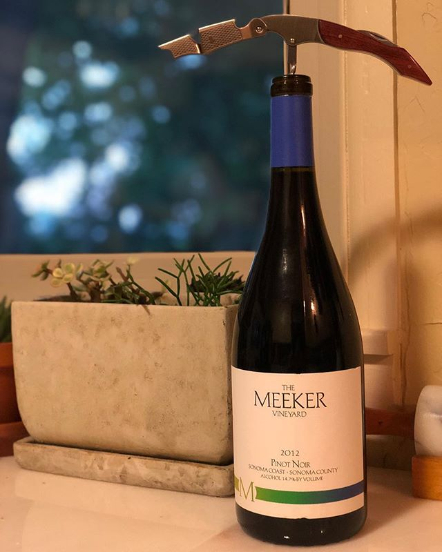 Here's the thing with @meekerwine, they have a rather large portfolio for a family run producer and all of their wines across the board are top notch. From their Rollercoaster to their Hand Print Merlot, you're always going to get your moneys worth.  This 2012 Sonoma Coast Pinot Noir is a prime example of what the grape can be when in the right hands. Bright red fruit, red licorice, and some spice - this wine pairs well with life.  #wine #winetasting #winelover #wines #winery #winestagram #sonomawine #pinotnoir @heylucasj @mollymeeker