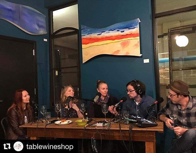On this weeks episode @tablewineshop was kind enough to host us for a live show all about #thanksgiving #wine. A bottle or two blow our minds. 100% #counoise anybody? #winetasting #winelover #tablewine #tablewinemadison