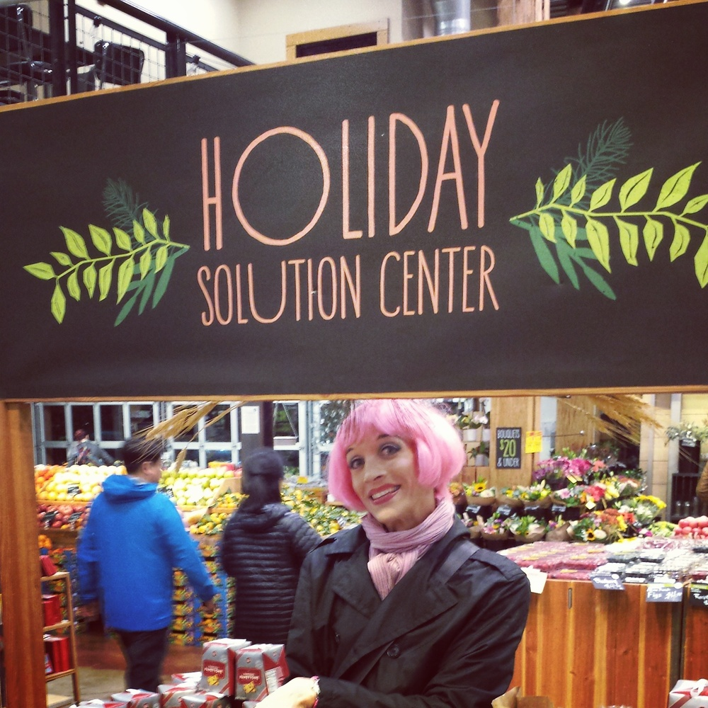 Mistress Ginger, the self-appointed poster girl for Whole Foods Market
