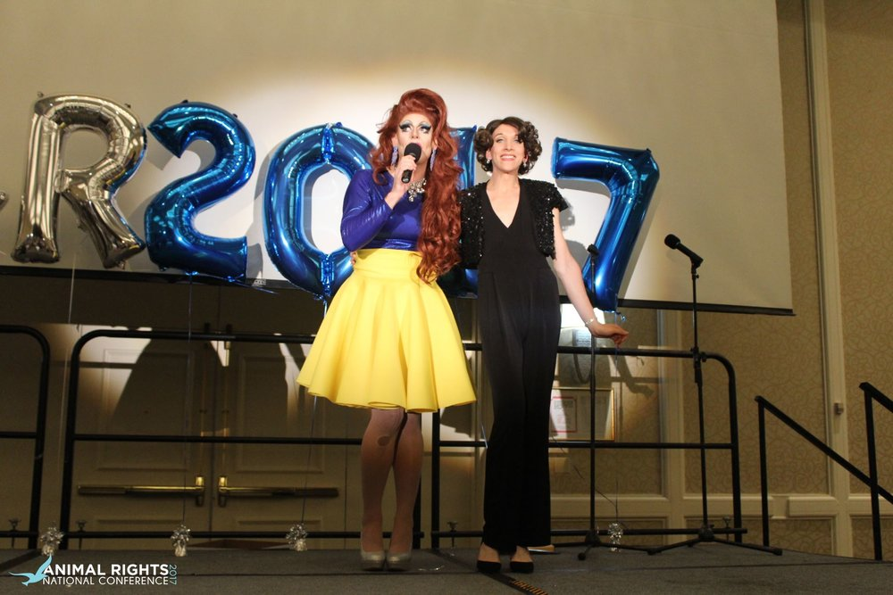 Performing with Honey last summer at the Animal Rights National Conference