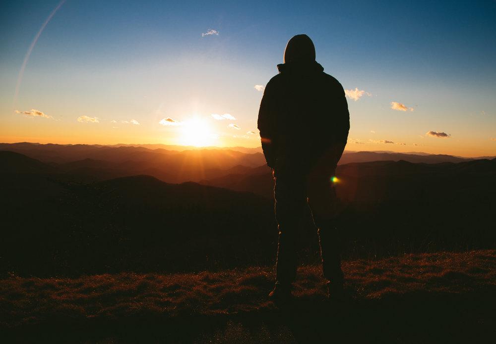 silhouette-in-sunrise
