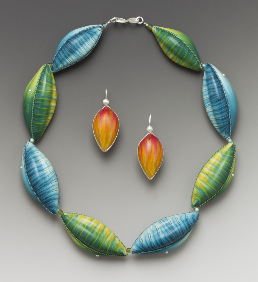 Blue/Green Leaf necklace   2006