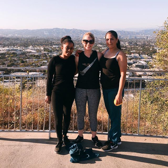 What a gorgeous day at the Culver City stairs! We are so lucky to work in Culver City!
