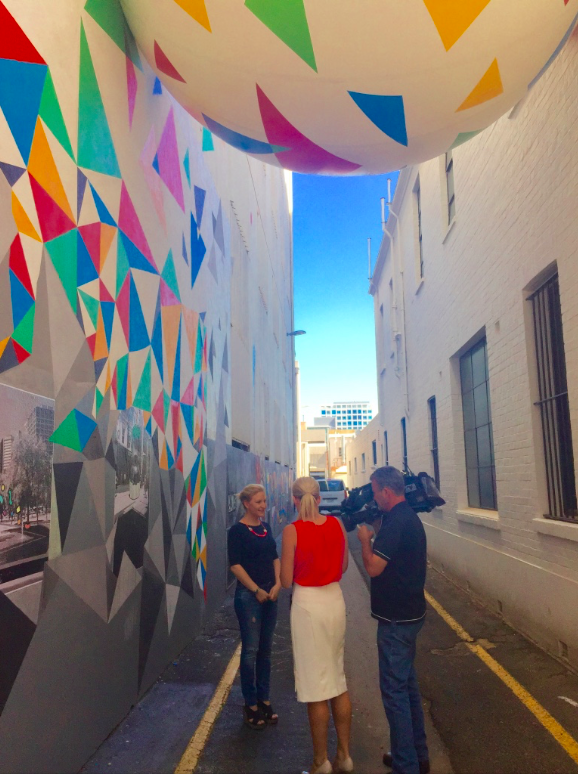 Trades Hall Lane Artwork Installtion