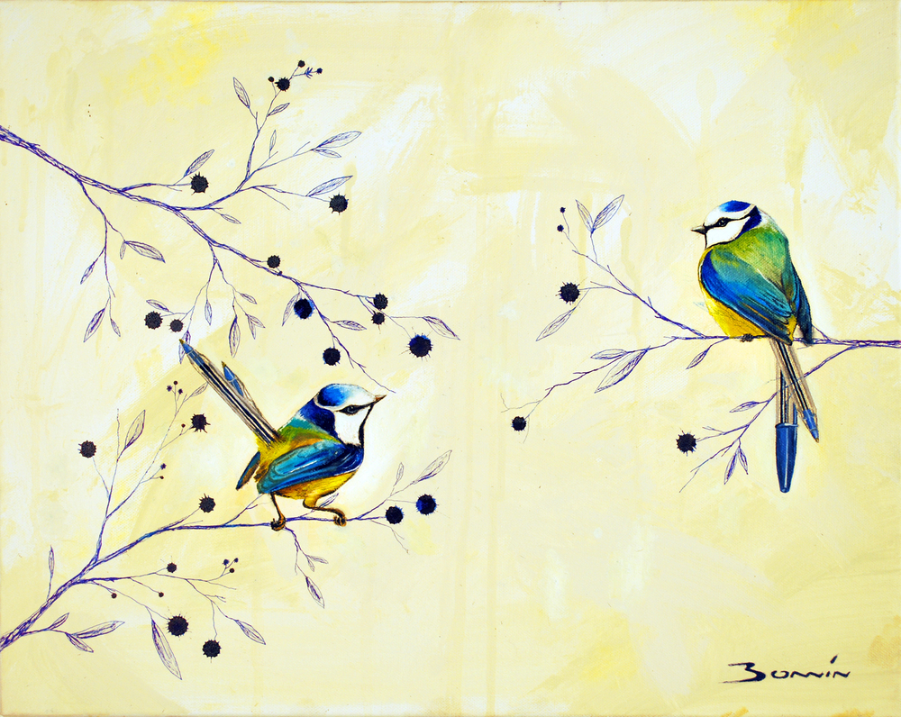 Blue Wrens Blue Pens