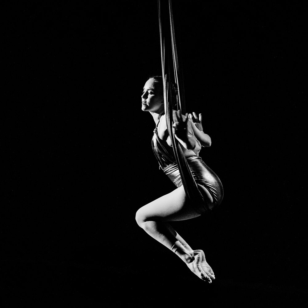 Christy Rose   On a whim, Christy took her first pole class in 2009. Despite the bruises, she became determined to bend this steel cylinder to her will. A few years later she began dabbling in silks, trapeze, and lyra. With a background in ballet and modern dance, aerial arts seemed a natural ascension. Pole continues to be her apparatus of choice.  When she's on the ground, she spends her days as a physical therapist including taking care of other dancers. Christy currently teaches Fly Gym aerial fitness and pole classes at The Chrome Bar in Nashville. She also really loves rock-n-roll.