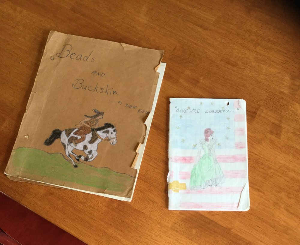My first books. Even then I was writing historical romance!)