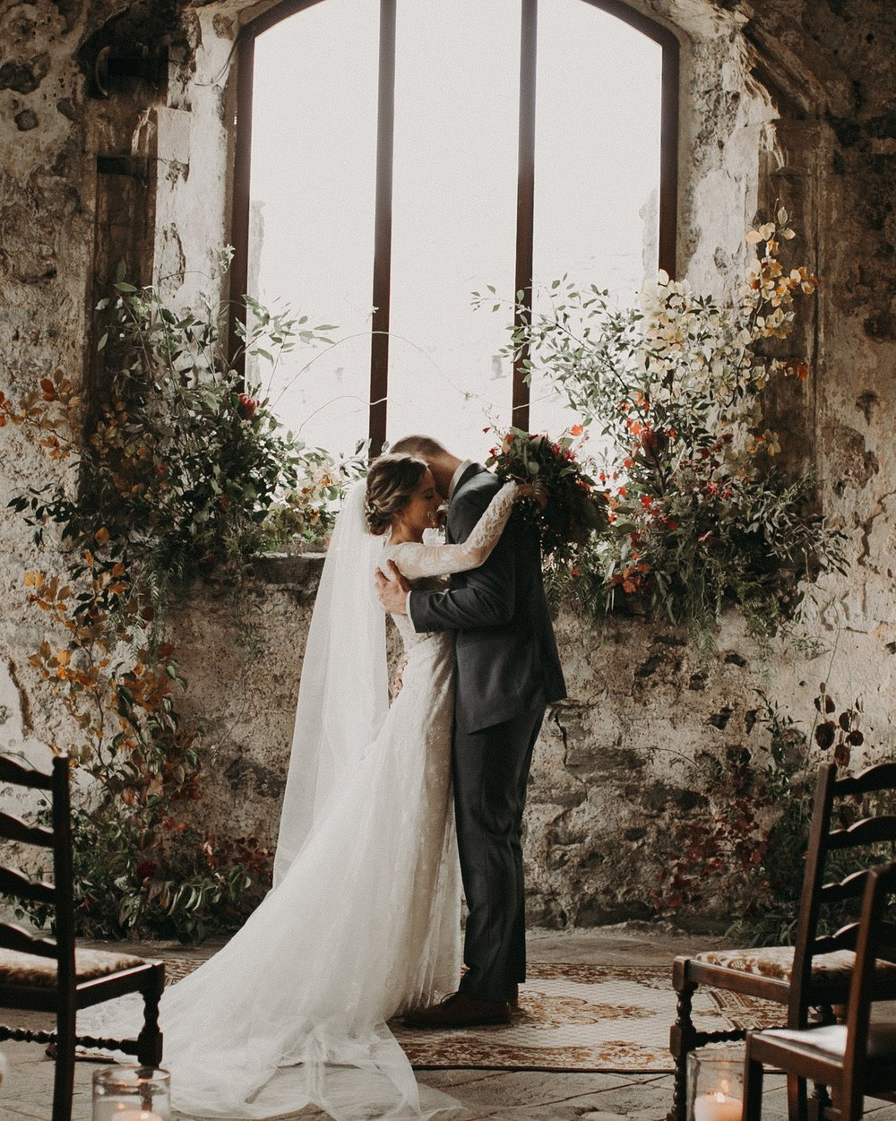 Rustic Castle Wedding in Wales -