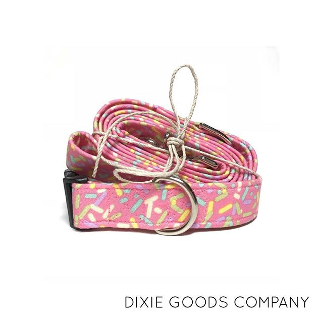 Always a fan of anything pink and sprinkles!! The Cupcake Collar and Leash - Available now on Etsy!