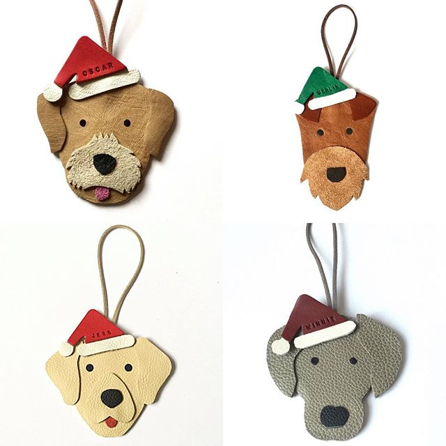 The BEST Dog Christmas Ornaments!!! Check out @thedogscollars for custom made ornaments!! Photos by: @thedogscollars