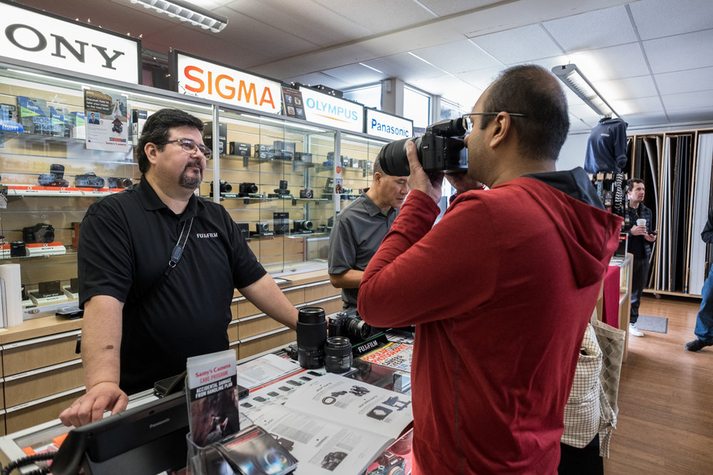 There was a lot of interest in the new Fujifilm GFX 50S at Samy's Camera, San Francisco