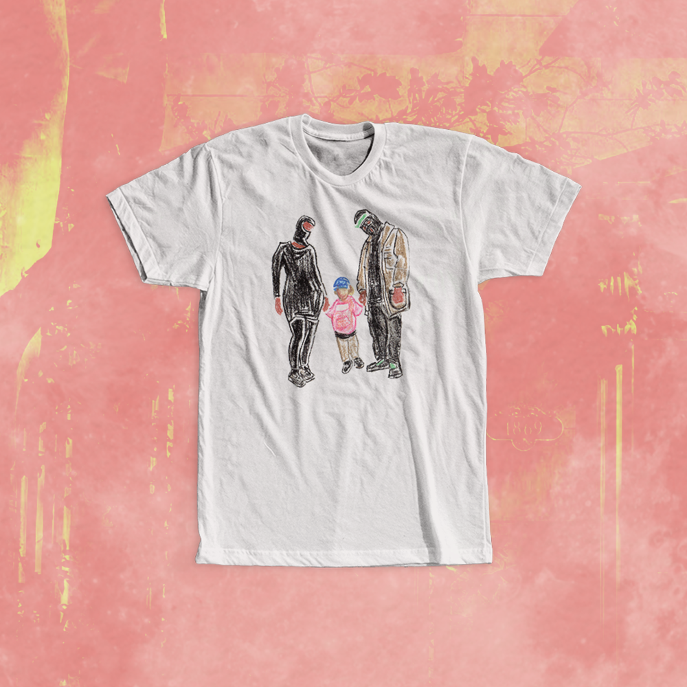 PREMIUM: $35.00 – T-Shirt: Portrait Sketch  (Print Sketch! Location: front of shirt   You Get 2 T-shirts, Any Size   Color Shirt: White)  More info »