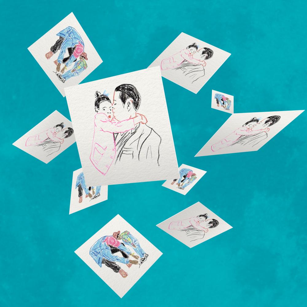 "STANDARD: $25.00 – Print: Portrait Sketch–Cards  (50 Square Cards   Size: 2.56""x2.56""   Matte finish, premium paper) More info »"