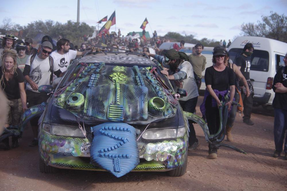 Lizards Revenge protests against Roxby Downs Uranium Mine