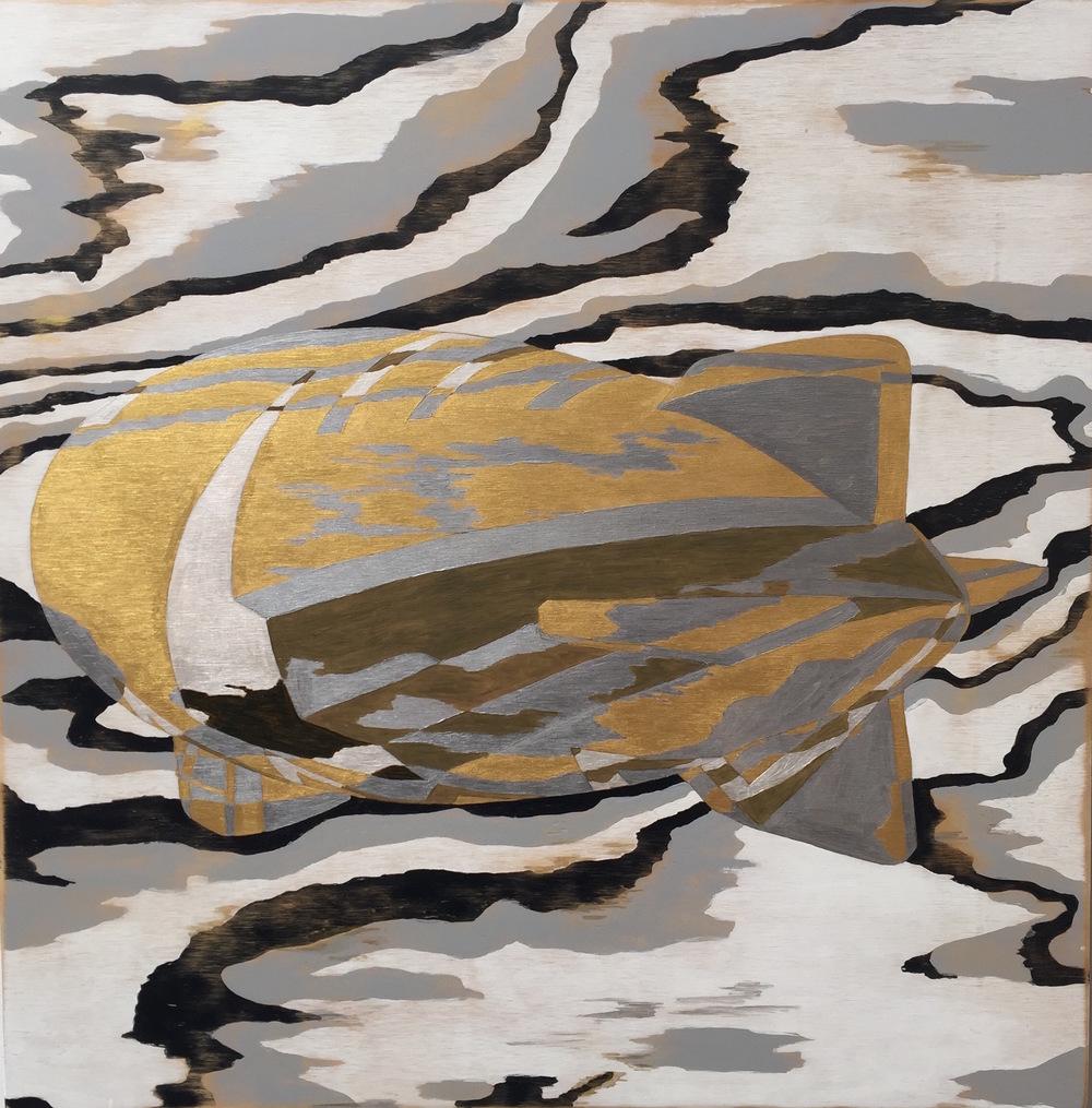 "Zeppelin I, 2015 24"" x 24"", acrylic on plywood"
