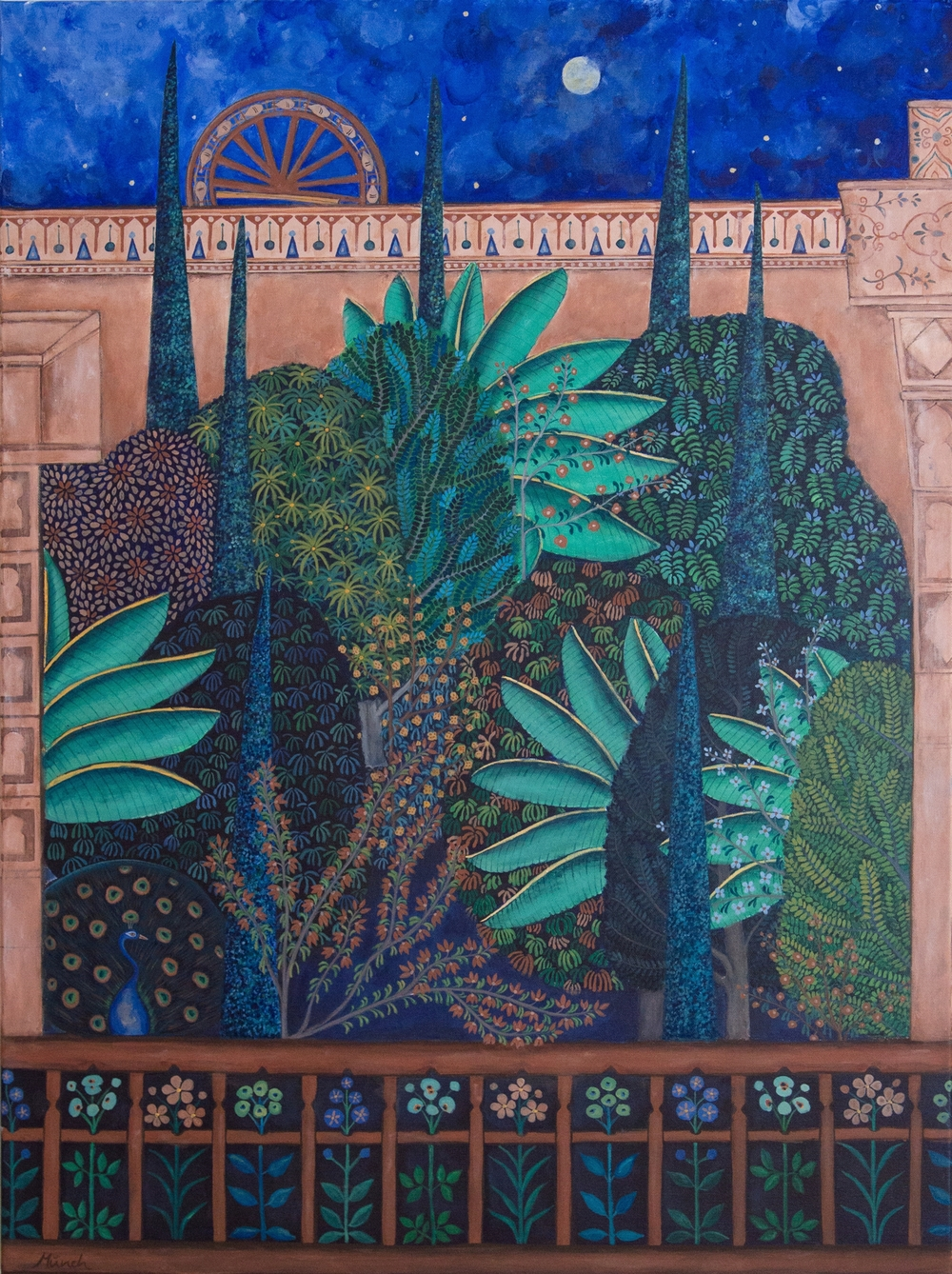"palace garden, 30""x40"", acrylic on canvas, 2015"