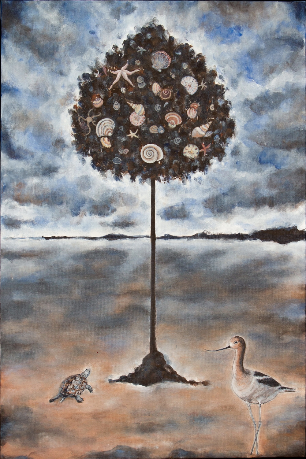 "bay tree, 24""x36"", acrylic on canvas, 2015"