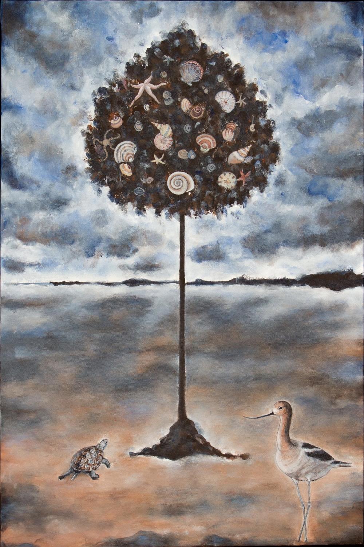 """bay tree, 24""""x36"""", acrylic on canvas, 2015"""