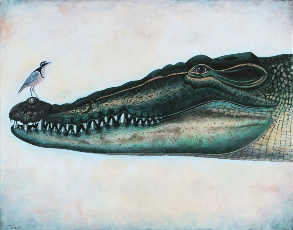 "sobek, 22""x30"", acrylic on canvas, 2015"
