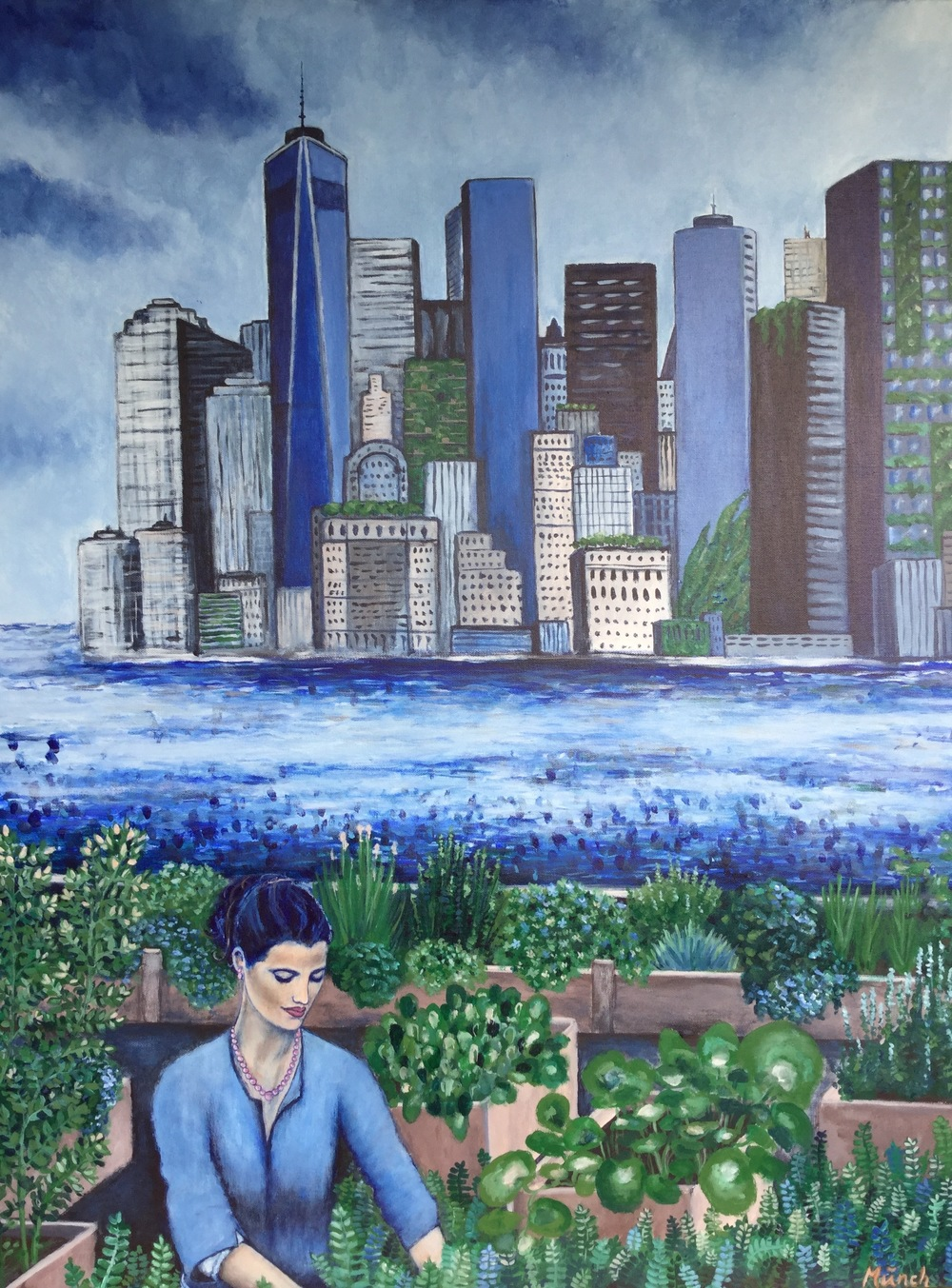 urban gardening, 30''x40'', acrylic on canvas, 2016