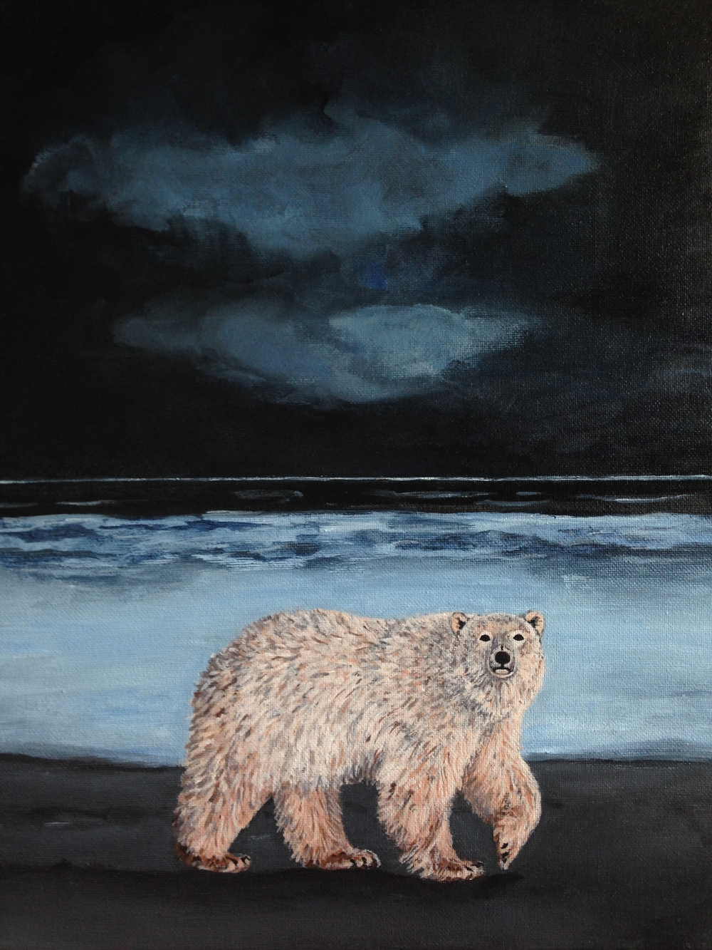 nanuq, 12''x16'', acrylic on canvas, 2016.