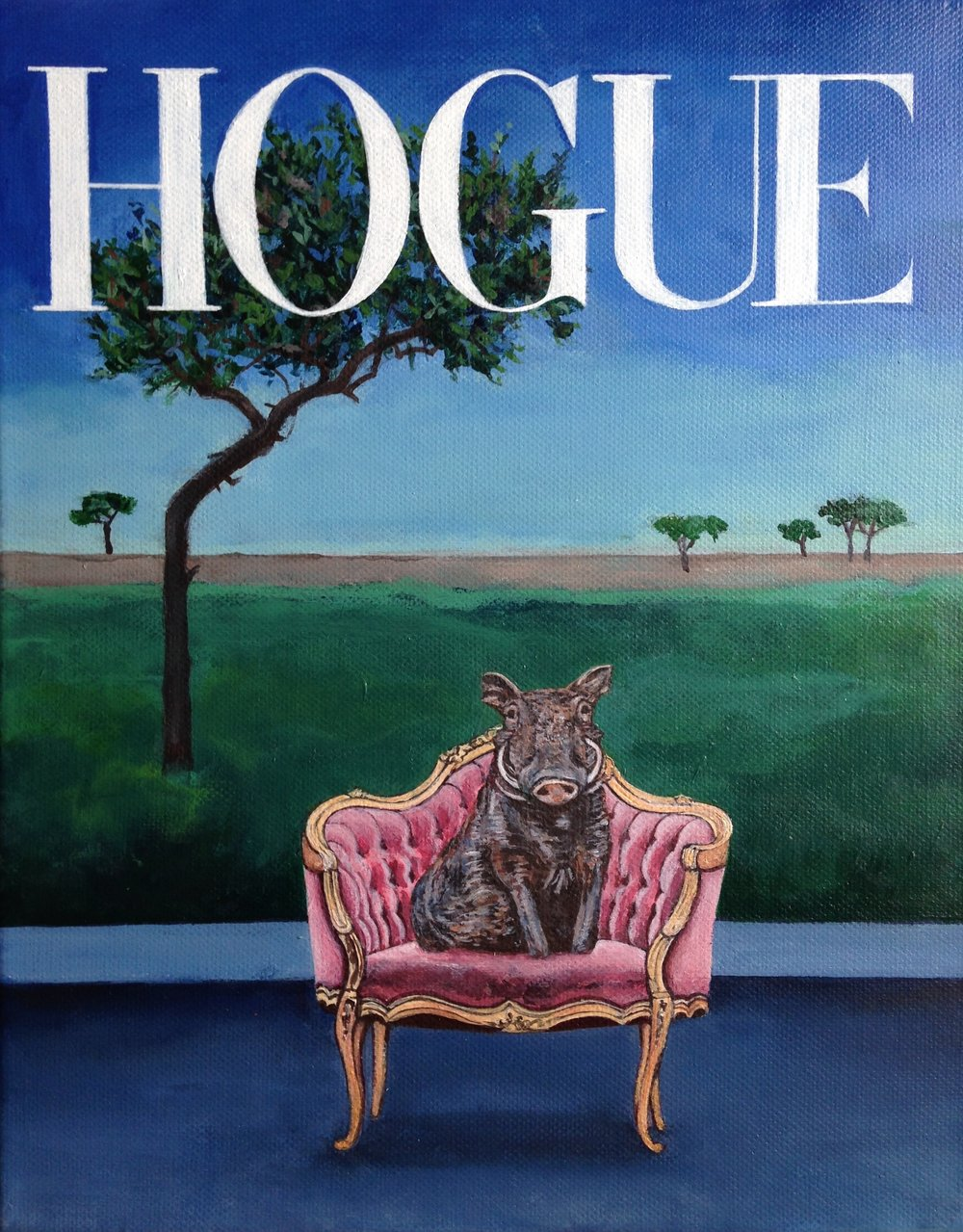 hogue, 9.5''x12'', acrylic on canvas, 2017