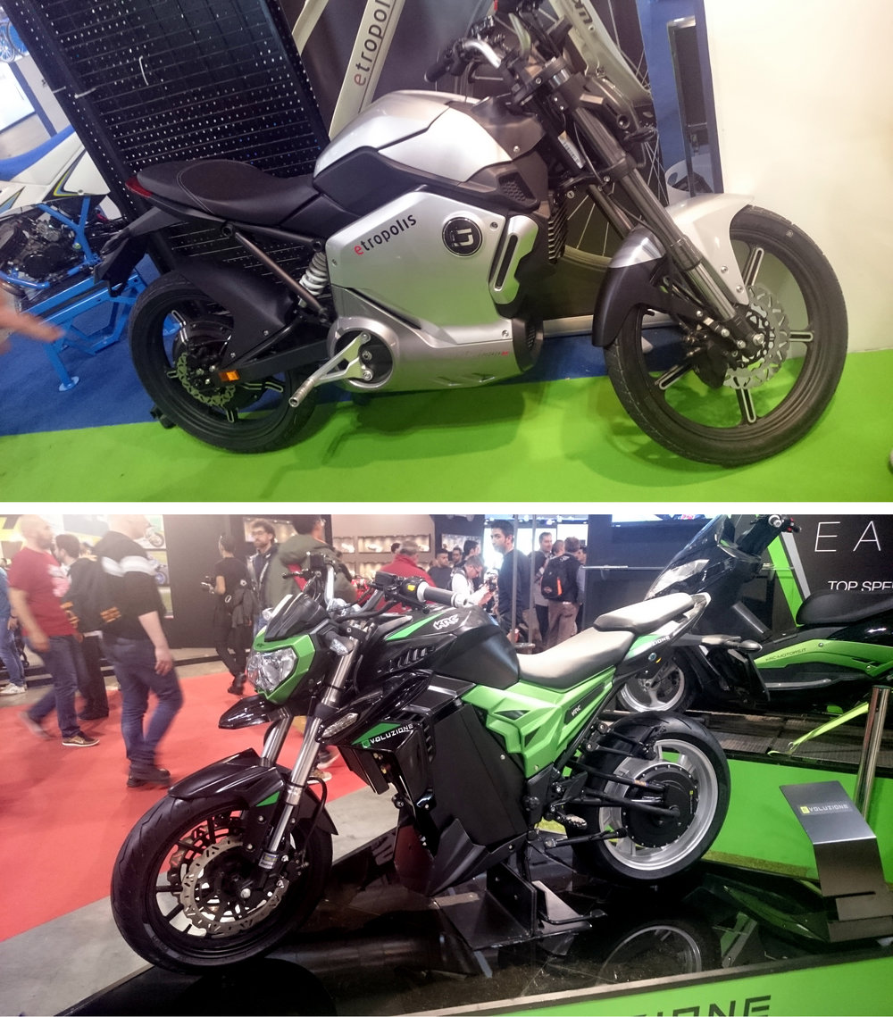 Top to Bottom,  Super Soco 1200r, KRC Motors Evoluzione.