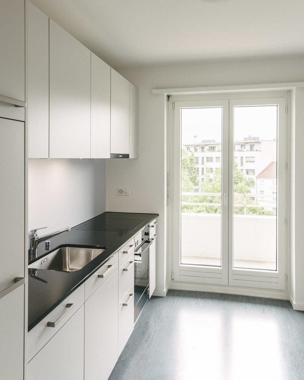 Innensanierung Küchen Burgfelderstrasse Basel, Consilium Architektur und Baumanagement
