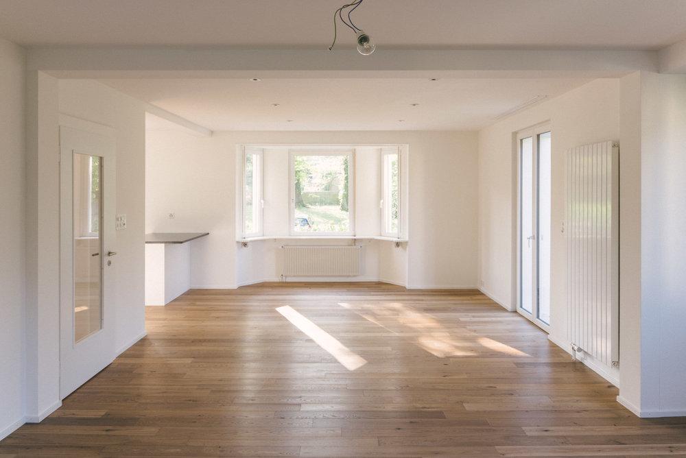Umbau Arlesheim Wohnzimmer, Consilium Architektur und Baumanagement