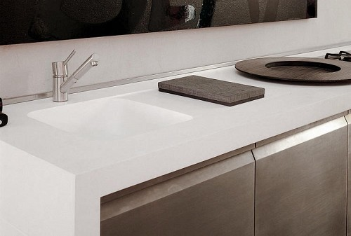 Corian Kitchen Benchtop in Cameo White