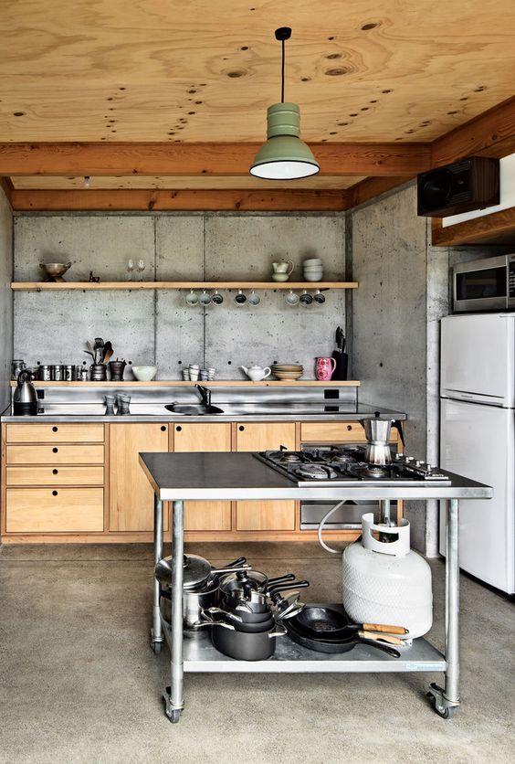 modern-industrial-stainless steel-benchtops