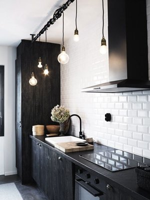 Lighting and stools would have to be the simplest way to incorporate the  look. Opt for the same industrial finshes to give your room a look of  simple ...