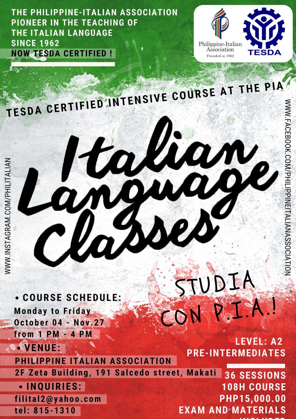 Italian language-Tesda A2-October2018.jpg