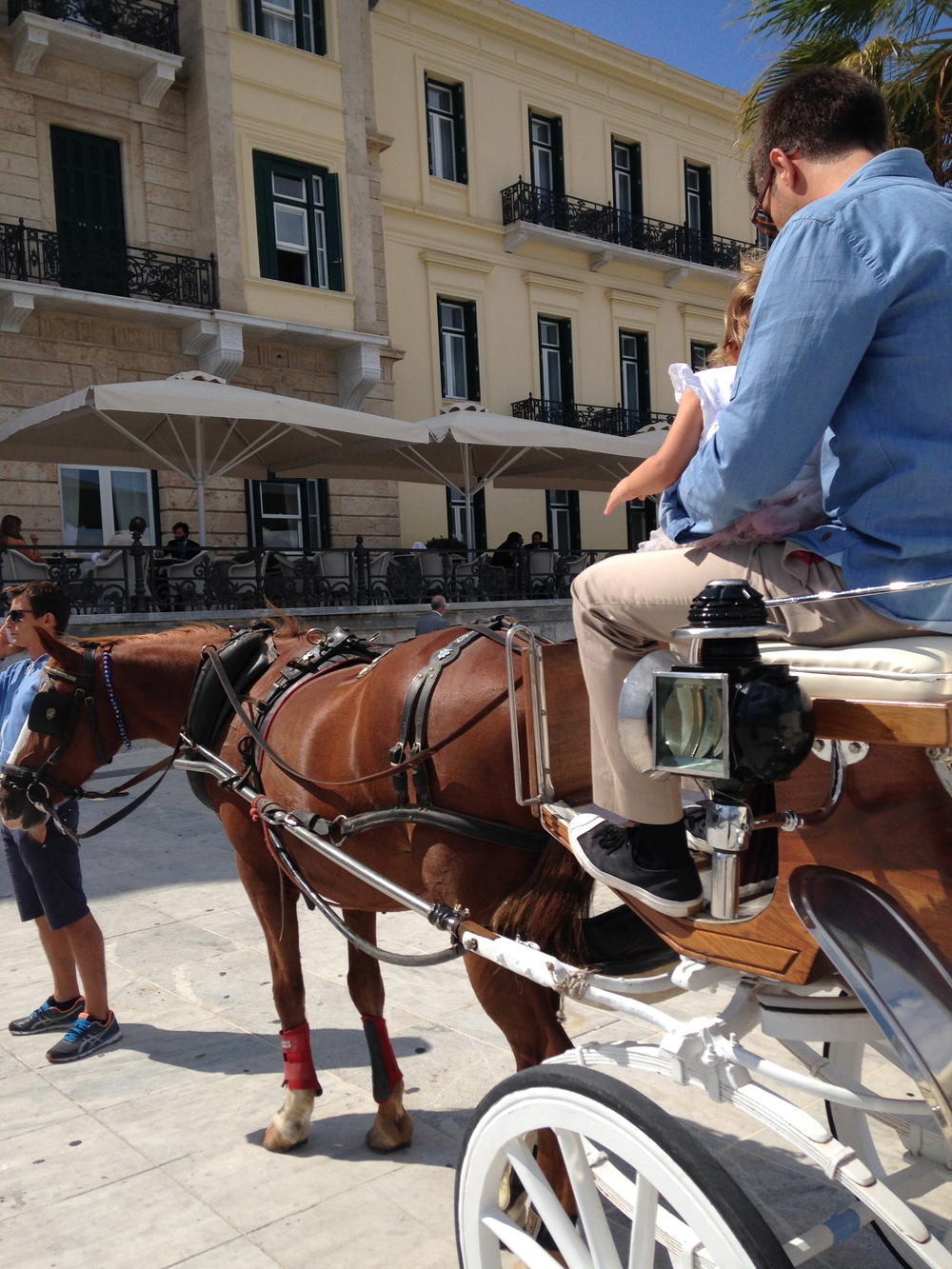 spetses horse riding poseidonio hotel day trip carriage