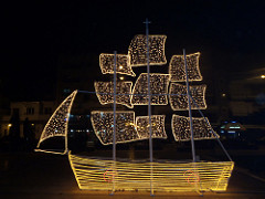 Christmas boat Greece