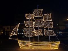 Christmas boat Greece